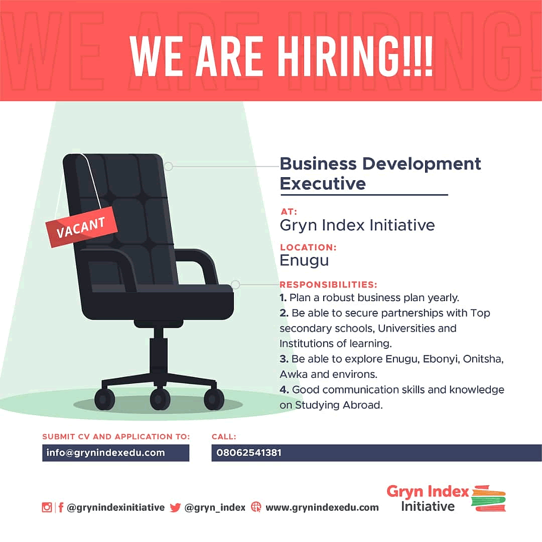 VACANCY: Business Development Executive